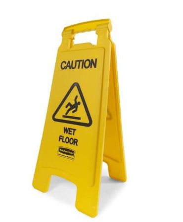 """FLOOR SIGN WITH MULTI-LIGUAL, CAUTION IM2"" - Mabrook Hotel Supplies"