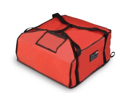 "Rubbermaid FG9F3600RED ProServe Medium Red Insulated Nylon Pizza Delivery Bag - 18"" x 17 1/4"" x 7 3/4"""