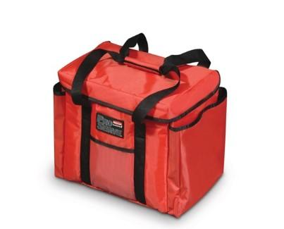 "Rubbermaid FG9F4000RED ProServe Insulated Sandwich Delivery Bag Red Nylon 15"" x 12"" x 12"" - Mabrook Hotel Supplies"