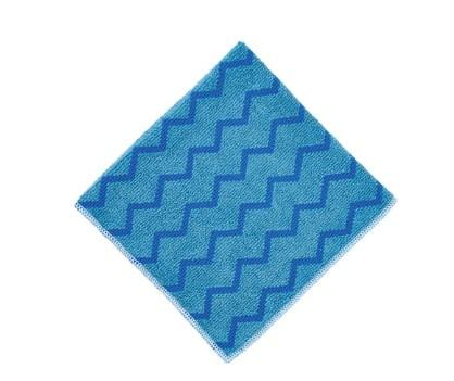 "Rubbermaid FGQ62000BL00 HYGEN 16"" x 16"" Blue Microfiber Cloth - Mabrook Hotel Supplies"