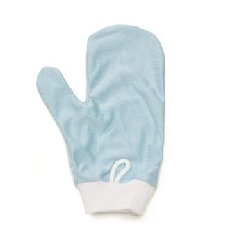 Rubbermaid FGQ65100BL00 HYGEN Blue Microfiber Glass / Mirror Mitt with Thumb - Mabrook Hotel Supplies