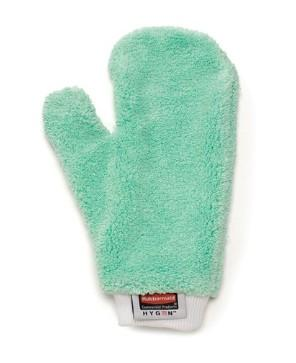 Rubbermaid FGQ65200GR00 HYGEN Green Microfiber Dusting Mitt with Thumb - Mabrook Hotel Supplies