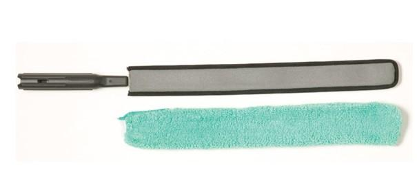 Rubbermaid FGQ85000BK00 HYGEN Quick-Connect Flexi-Wand with Green Microfiber Dusting Sleeve - Mabrook Hotel Supplies