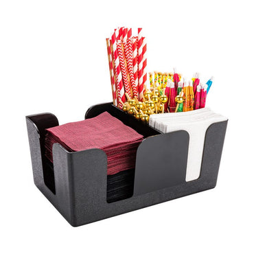 BAR CADDY BLACK ABS PLASTIC - Mabrook Hotel Supplies