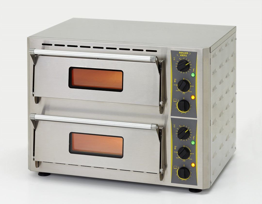 ROLLER GRILL PROFESSIONAL DOUBLE PIZZA OVEN