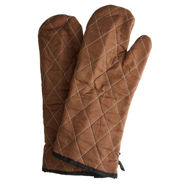 OVEN GLOVE 15 BROWN.