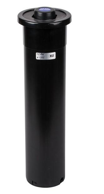 "EZ-FIT CUP DISPENSER, ONE SIZE FITS ALL, APPROX. CUP SIZE 8-46 oz, TUBE LENGTH 23 1/4"", CTR MOUNT BLACK GASKET"