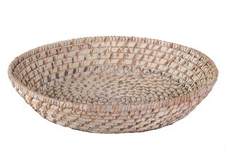 ROUND RATTAN BASKET/ DIA:25XH7CM- WHITE WASH - Mabrook Hotel Supplies