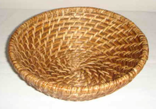 """ROUND RATTAN BASKET, DIM: 22xH7CM"" - Mabrook Hotel Supplies"