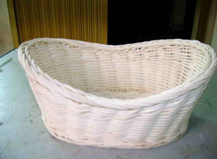 """OVAL RATTAN BASKET, DIM: 23x17xH10/7CM."" - Mabrook Hotel Supplies"