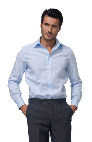 MENS SHIRT BLUE - Mabrook Hotel Supplies