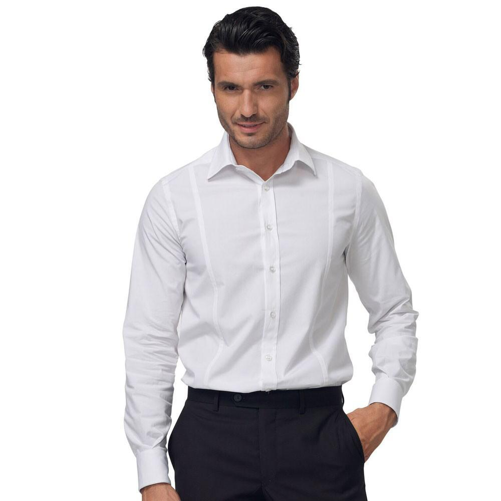 MENS SHIRT WHITE - Mabrook Hotel Supplies