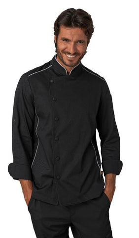 CHEF JACKET BLACK - Mabrook Hotel Supplies