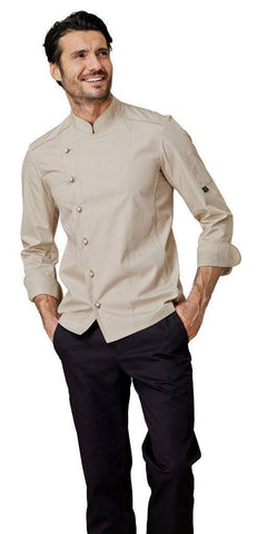 CHEF JACKET BEIGE - Mabrook Hotel Supplies