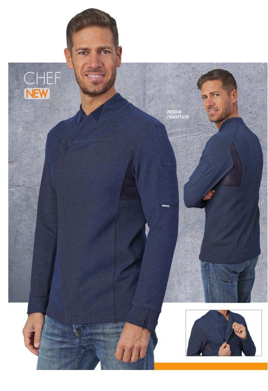 CHEF JACKET BLUE - Mabrook Hotel Supplies