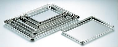 S/S SQUARE CAKE VAT SIZE:L487XW362XD22 THICKNESS 0.8 - Mabrook Hotel Supplies