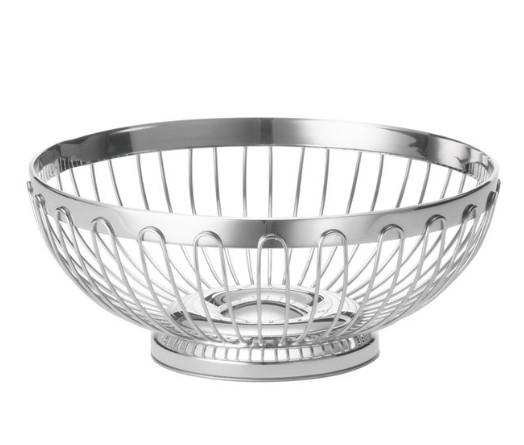 REGENT ROUND BASKET, STAIN LESS STEEL 18/8, DIA:20.32X8.25 CM - Mabrook Hotel Supplies