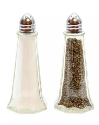 SALT & PEPPER SHAKERS EIFFEL TOWER, CHROME PLATES TOPS,DIA:1 OZ - Mabrook Hotel Supplies
