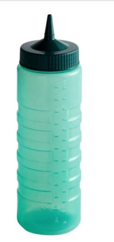 """COLOR MATE SQUEEZE BOTTLE DISPENSER, 24oz, WIDE MOUTH, STANDARD CAP, MOULDED IN OUNCE MARKING, POLYETHYLENE, VISTA GREEN BOTTLE"" - Mabrook Hotel Supplies"