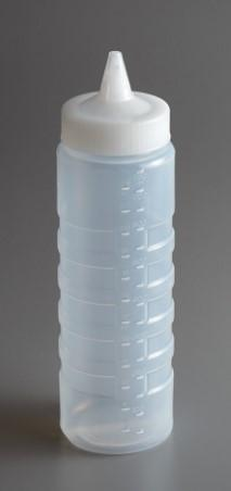 """SQUEEZE BOTTLE WIDE MOUTH DISPENSER WITH CLOSEABLE CAP, 24 C"" - Mabrook Hotel Supplies"