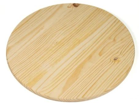 ROUND WOODEN BOARD W/OUT HANDLE SIZE 23CM - Mabrook Hotel Supplies