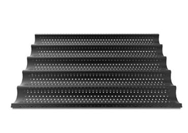 """ALUMINIUM PERFORATED TRAY 600X400, TEFLON COATED- 5CANALS"""