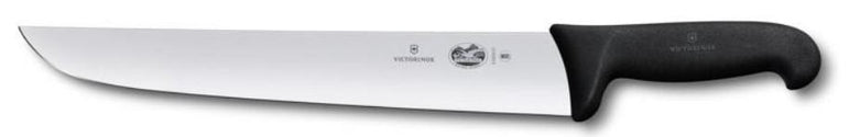 """VICTORINOX BUTCHER KNIFE, 28 CM, BLACK FIBROX HANDLE"""