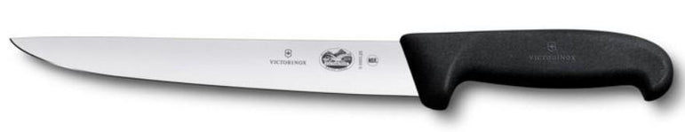"""VICTORINOX STICKING KNIFE , 22 CM, BLACK FIBROX ROUND HANDLE"" - Mabrook Hotel Supplies"