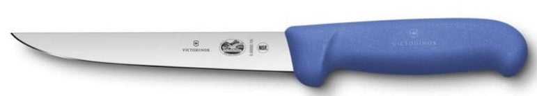"""VICTRIONX BONING KNIFE, STRAIGHT, WIDE, 15 CM, BLUE FIBROX H"" - Mabrook Hotel Supplies"