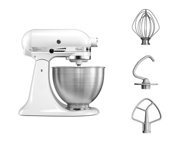 KitchenAid CLASSIC 4.3 L Tilt-Head Stand Mixer - White - Mabrook Hotel Supplies