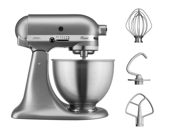 KitchenAid CLASSIC 4.3 L Tilt-Head Stand Mixer - Silver - Mabrook Hotel Supplies