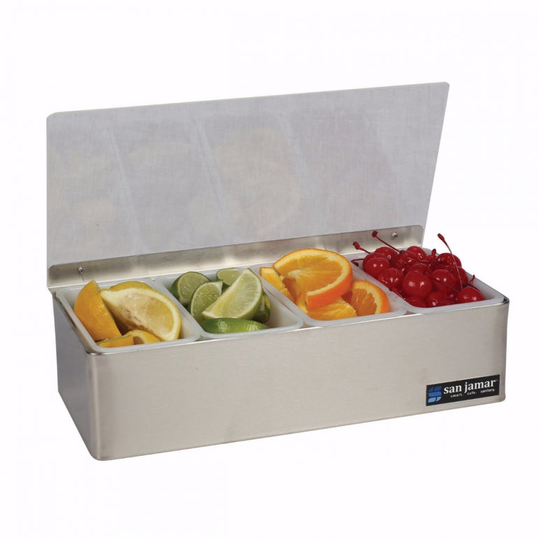 SAN JAMAR NON-CHILLED GARNISH TRAYS 4 COMPARTMENTS - Mabrook Hotel Supplies