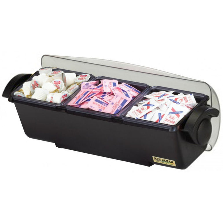 SAN JAMAR CONDIMENT AND GARNISH TRAY 3 COMPARTMENTS