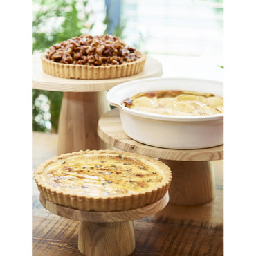 REVOL WOOD CAKE STAND - Mabrook Hotel Supplies