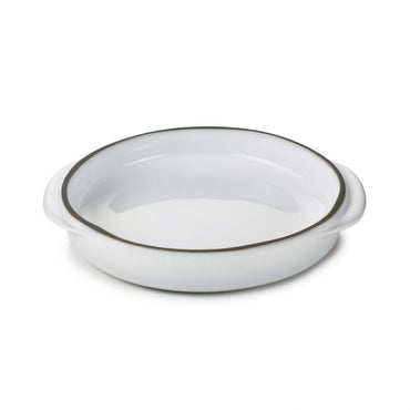 "REVOL CARACTERE ROUND DISH ""WHITE CUMULUS"" - 14 CM - Mabrook Hotel Supplies"