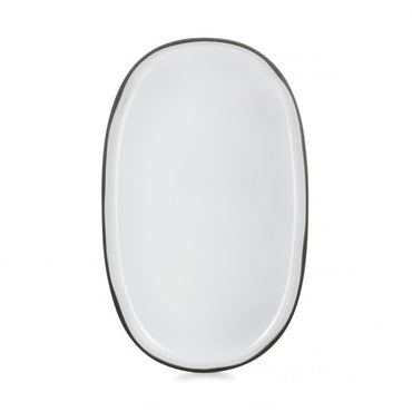 "REVOL CARACTERE SERVICE PLATE ""WHITE CUMULUS"" - 35.5 CM - Mabrook Hotel Supplies"