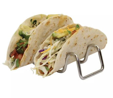 TABLECRAFT TACO TAXI STAINLESS STEEL TACO HOLDER WITH 2 TO 3 TACOS
