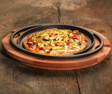 """PIZZA / KREP / PANCAKE PAN, ROUND DIAMETER: 20cm. AND WOODEN"" - Mabrook Hotel Supplies"