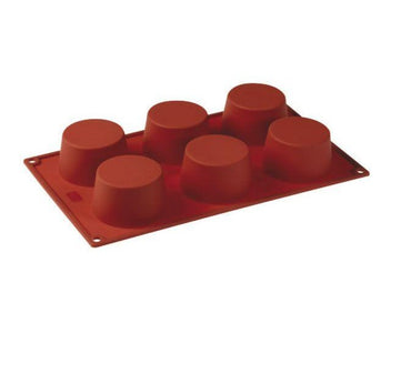 PAVONI MULTI-PORTION 6 CAVITIES MUFFIN SILICON MOULD - Mabrook Hotel Supplies