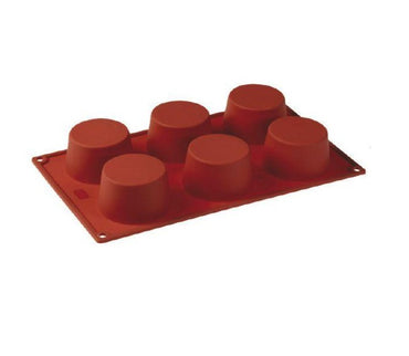 PAVONI MULTI-PORTION 6 CAVITIES CUPCAKE SILICON MOULD - Mabrook Hotel Supplies
