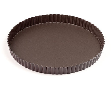 GOBEL FLUTED ROUND TART MOULD FIXED BOTTOM - 20 CM - Mabrook Hotel Supplies