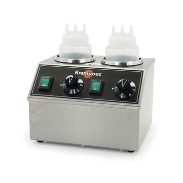 KRAMPOUZ 2 BOTTLES ELECTRIC TOPPING WARMER - Mabrook Hotel Supplies