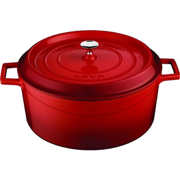 LAVA ROUND CASSEROLE RED- 20 CM - Mabrook Hotel Supplies