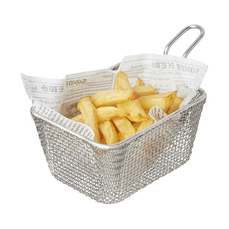 REVOL INDIVIDUAL STAINLESS STEEL POTATO BASKET - Mabrook Hotel Supplies