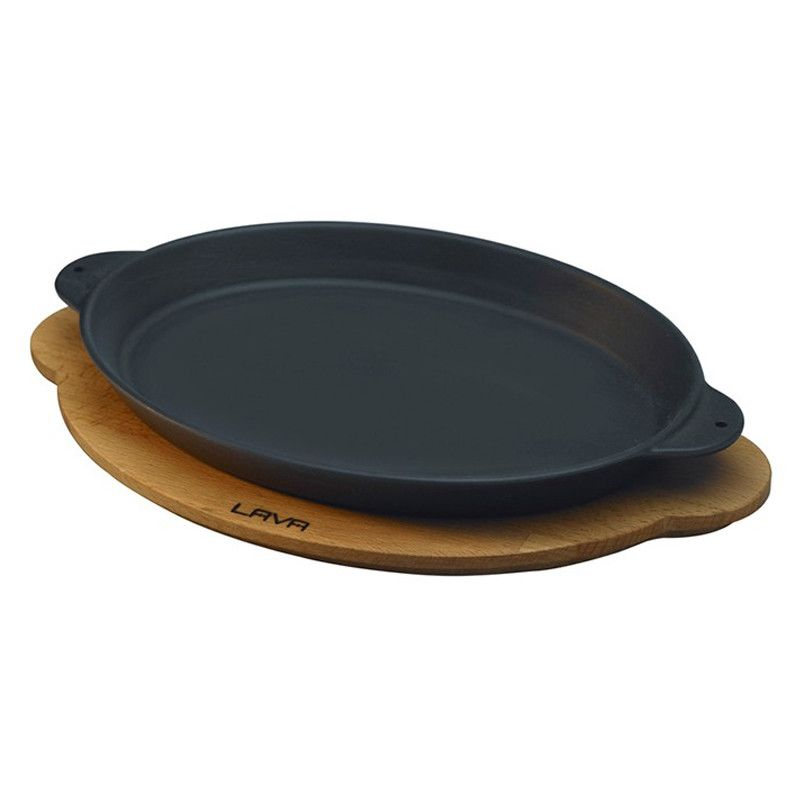 LAVA CAST IRON PLATTER - OVAL - Mabrook Hotel Supplies