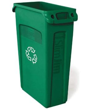 Rubbermaid Slim Jim Recycling Can 23 Gal - Green - Mabrook Hotel Supplies