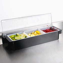 CONDIMENT DISPENSER 3 COMPARTMENTS - Mabrook Hotel Supplies