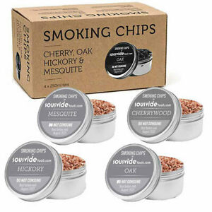 THE SMOKING GUN SEASONED WOOD CHIPS PACKAGE - BOX OF 4 TINS