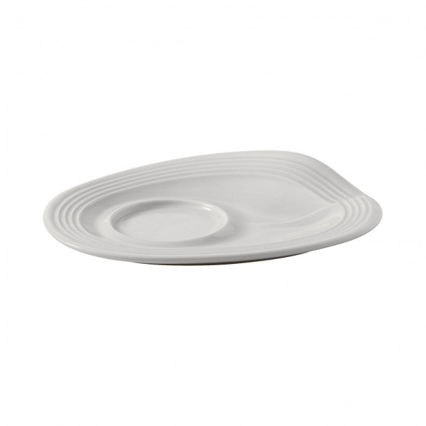REVOL CRUMPLE ESPRESSO SAUCER WHITE - Mabrook Hotel Supplies