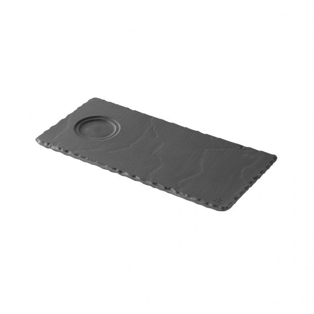 REVOL BASALT SLATE TRAY WITH INTENT - 24X12 CM